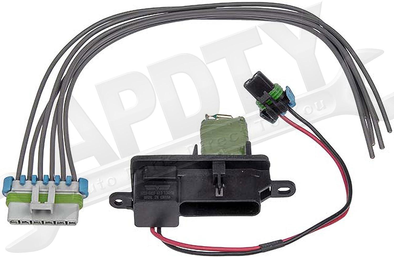 Replaces 15-81796, 15-80560, 89018770 APDTY 084518 Blower Motor Resistor Fan Speed Control w//Wire Wiring Harness Kit