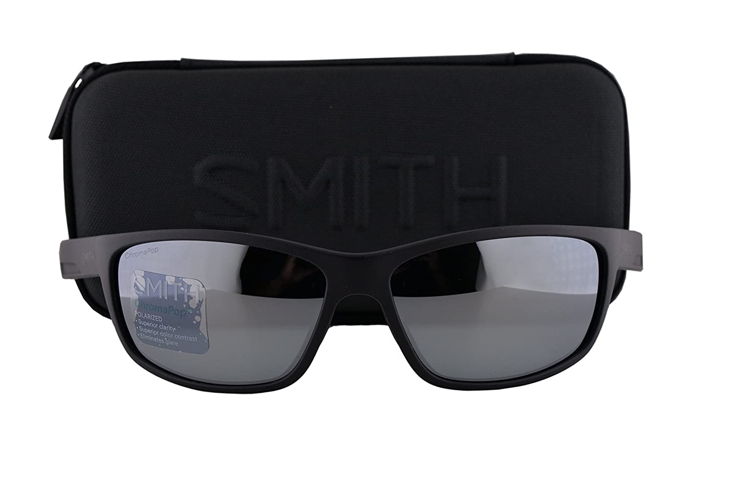 5ab2350f64 well-wreapped Smith Redmond Sunglasses Matte Black w Polarized ChromaPop  Platinum Lens DL5 .