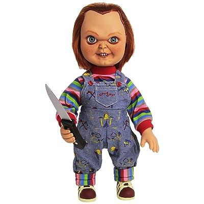 """Mezco Toyz 15"""" Mega Good Guy Chucky Action Figure with Sound: Toys & Games"""