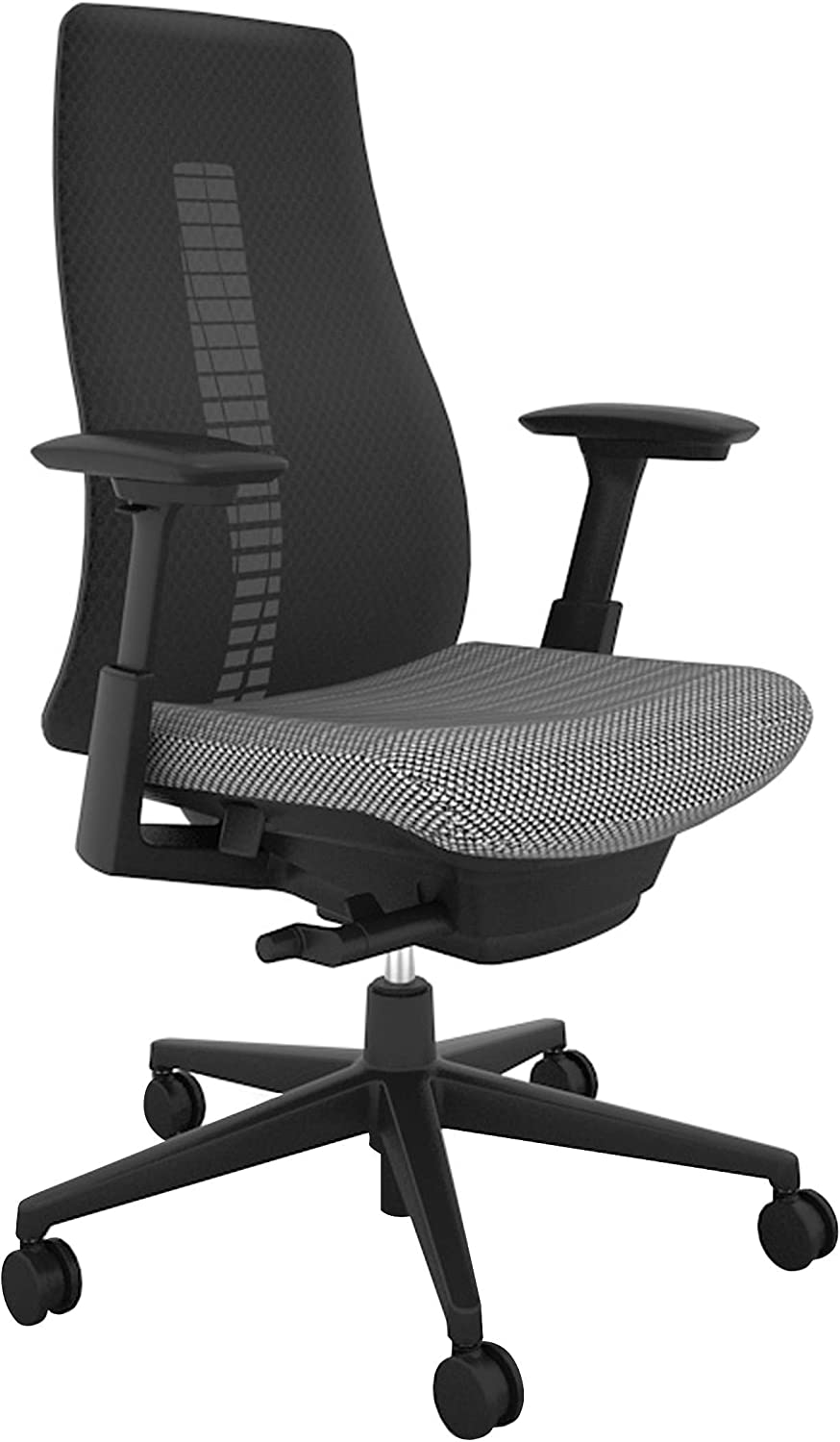 Haworth Fern High Performance Office Chair with Ergonomic Innovations and Flexible Mesh Back, Coal