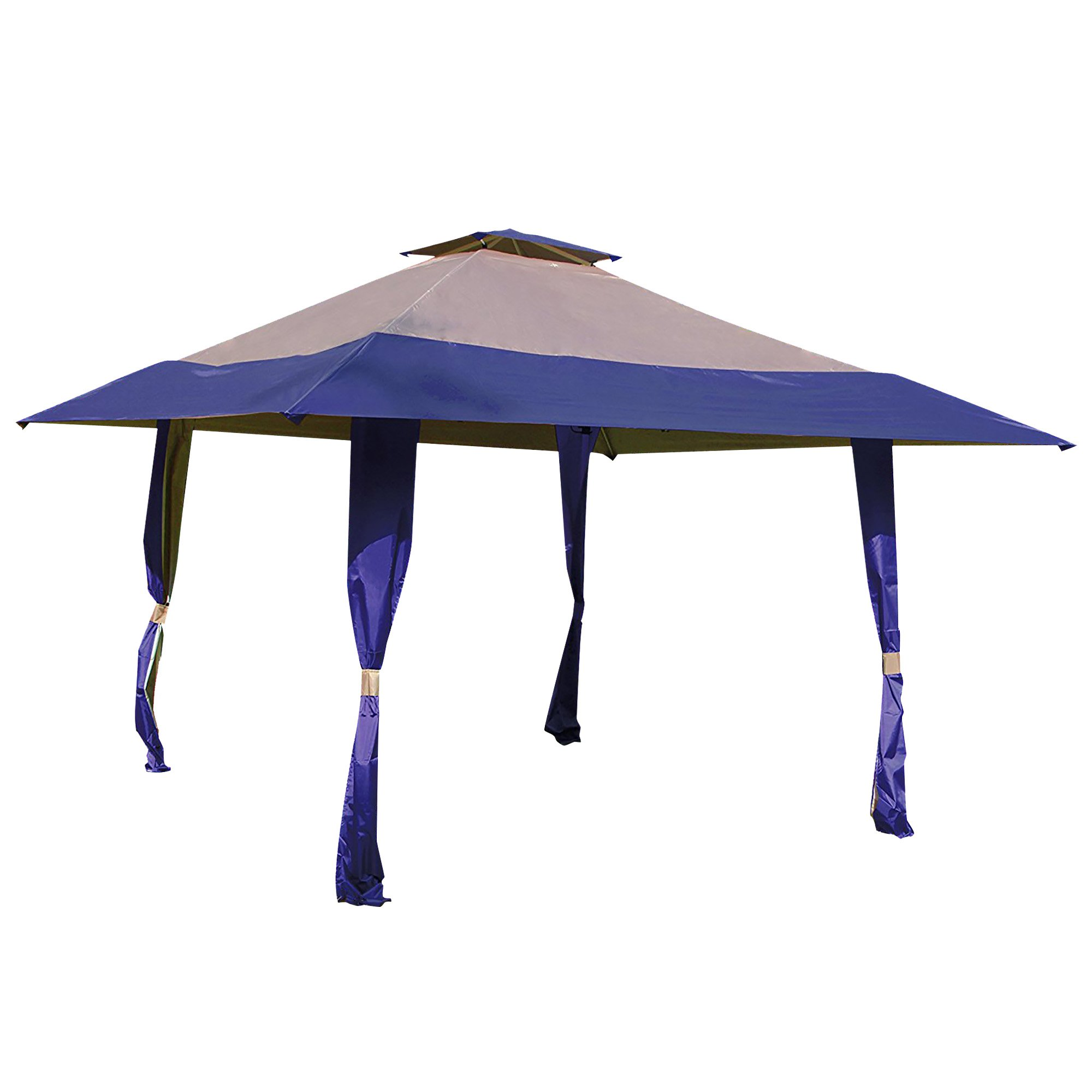 Cloud Mountain 13' x 13' Pop Up Canopy Outdoor Yard Patio Double Roof Easy Set Up Canopy Tent for Party Event, Royal Blue Tan