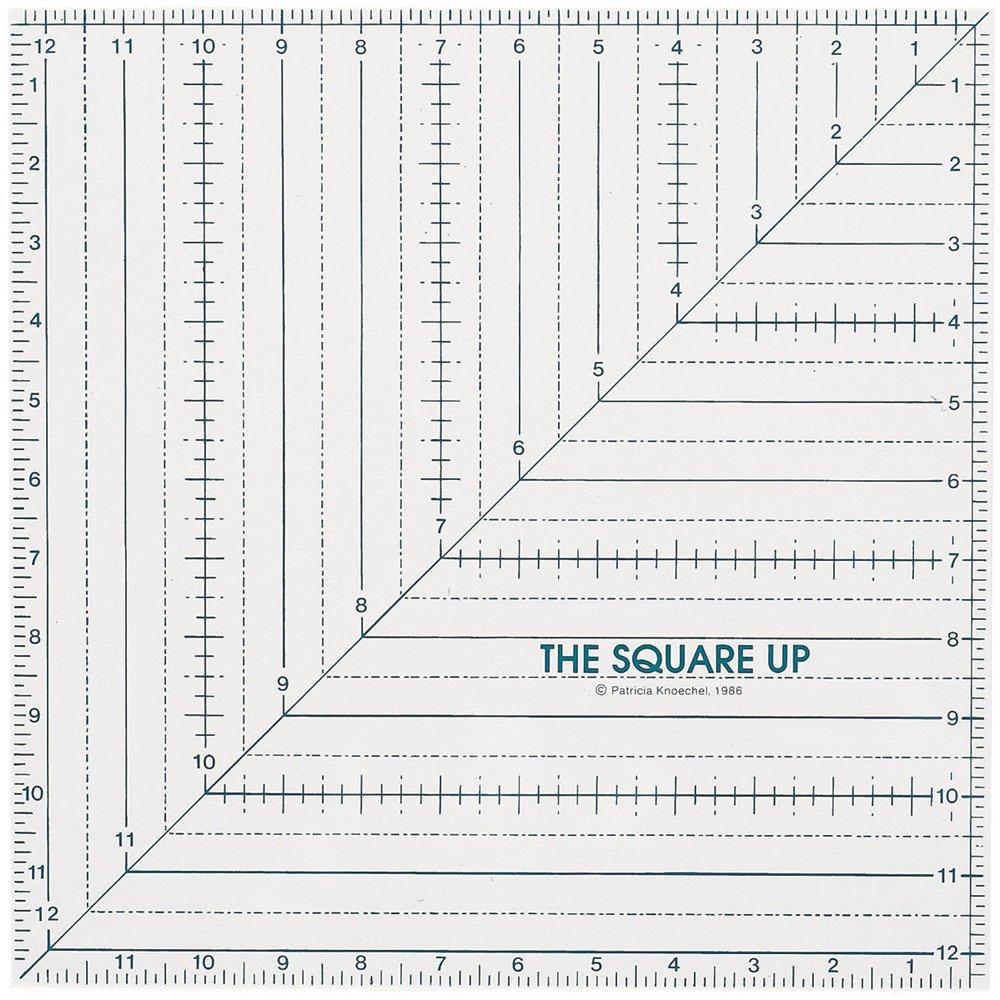 Quilt in a Day 12-1/2-Inch by 12-1/2-Inch Square Up Ruler 2004