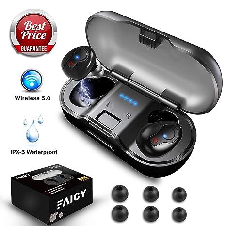 5ade43467b0 Wireless Earbuds, Faicy True Wireless 5.0 Deep Bass Mini in-Ear Headset HD  Stereo