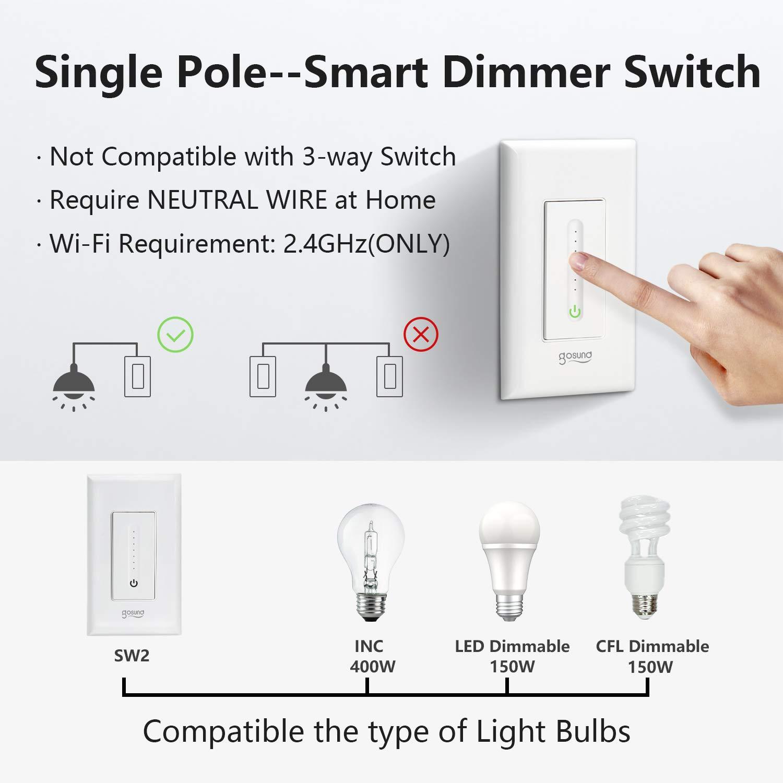 3 pole light dimmer switch wiring diagram gosund smart dimmer switch  wifi smart light switch work with  gosund smart dimmer switch  wifi smart