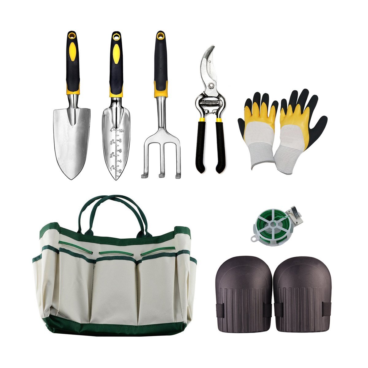 Garden Tool Set Aluminum Hand Tool Kit,Outdoor Tool,Garden Tote,Vegetable Herb Garden Hand Tools