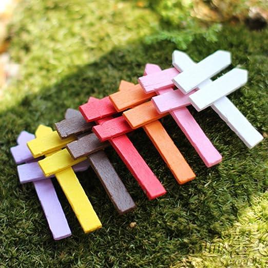 DIY colorido cartel, hada artificial jardín adorno de madera ...