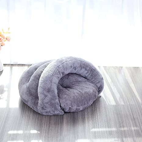 wkm Saco De Dormir para Gatos Fleece Soft Self Warming Camas Lavables para Gatos Snuggle Saket