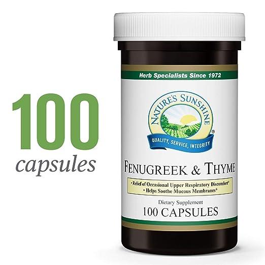 Nature's Sunshine Fenugreek & Thyme, 100 caps, Kosher