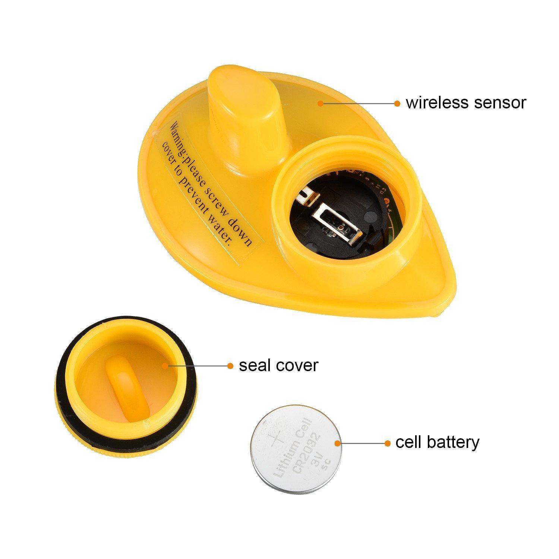 MKNzone 1 pc FFW1108-1 D/étecteur de Poissons Portable sans Fil avec Alarme Jusqu/à 40 m de Profondeur