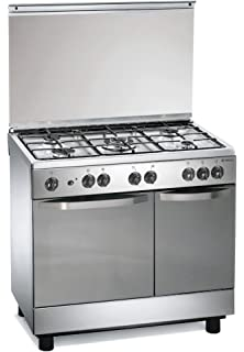 cucina a gas 90x60x85 cm inox 5 fuochi con forno elettrico regal rc7965ex