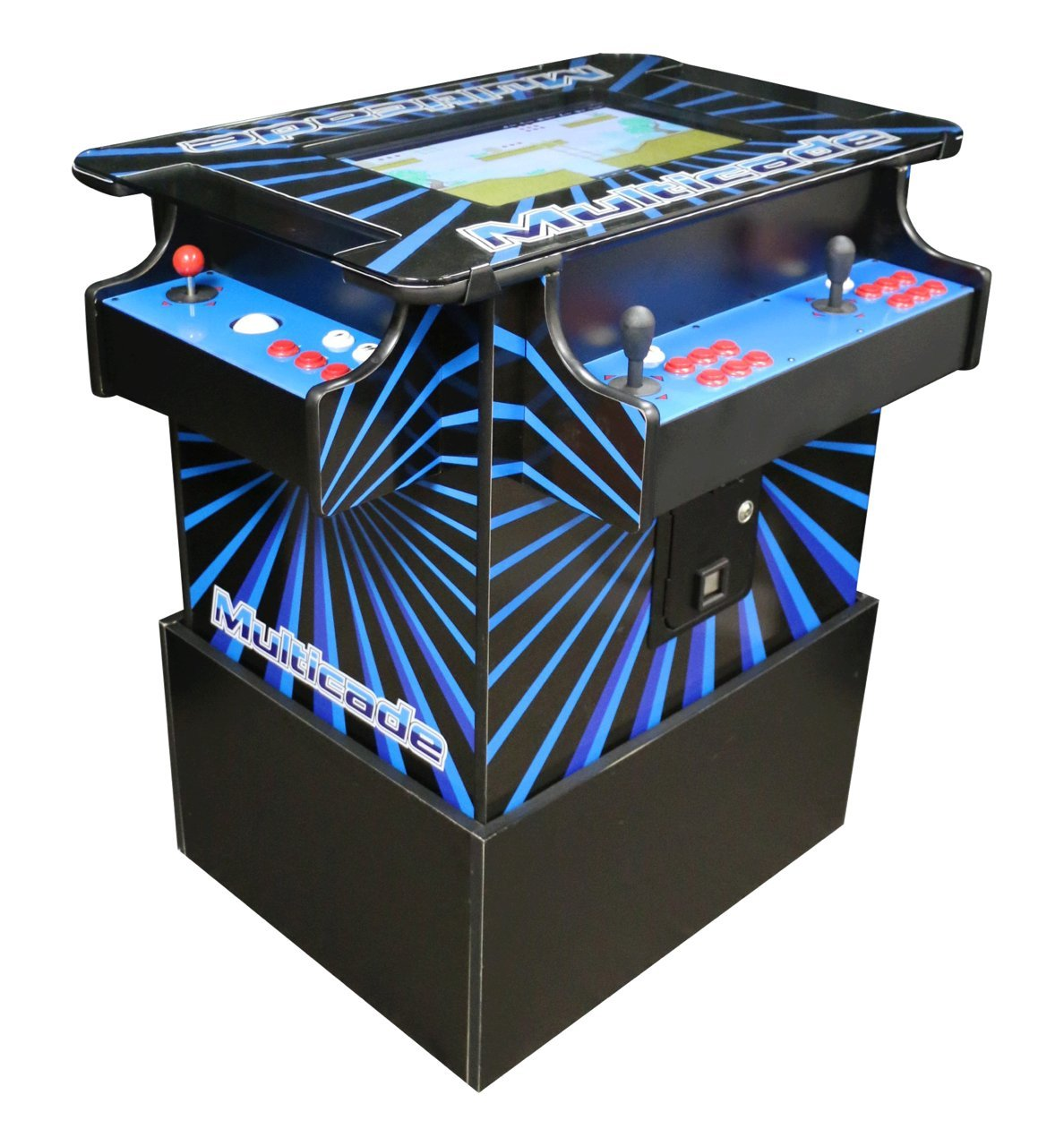 Ultimate Arcade Cabinet w Trackballs. Professionally Made Commercial Quality LED JAMMA Plug and Play Ready by Proarcades, LLC