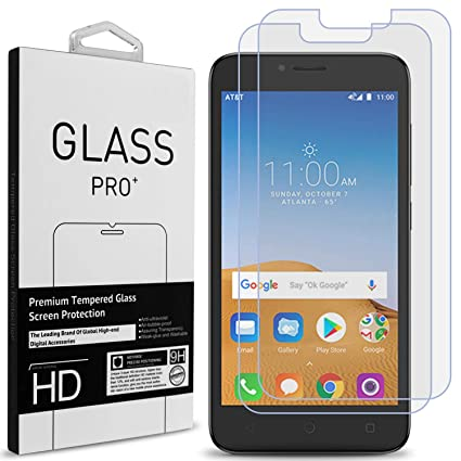 CoverON Alcatel Tetra Tempered Glass Screen Protector [2 Pack], Premium  Slim Fit Protective Phone Display Guards [9H, Anti-Scratch, Anti-Bubble]  for