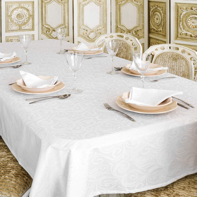 150x 250cm Nappe de luxe de No/ël- Traitement anti taches blanc Ref 59 x 98 No/ël. Grande tailles