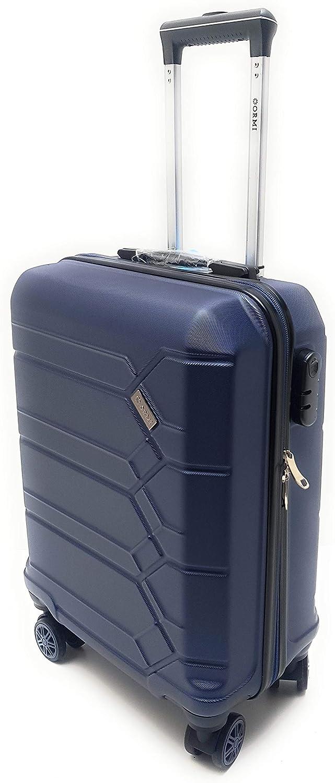 bleu fabriqu/ée en ABS Bleu Valise rigide /à 8 roulettes conforme aux dimensions limites en mati/ère de bagages /à main impos/ées par Ryanair - 185 55 x 40 x 20/cm max