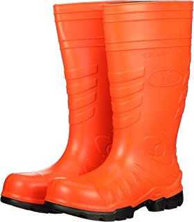 product image for Heartland Footwear Orange Poly Tuff Polyurethane Waterproof Work Boot. Composite Toe, Slip-Resistant
