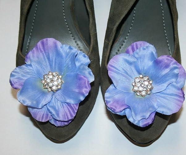 76941ca7ff7baf Amazon.com  Purple Color Flower Clip for Shoes (2 piece)