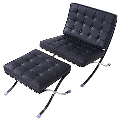 Amazon.com: mecor estilo Barcelona Pavilion Lounge silla ...
