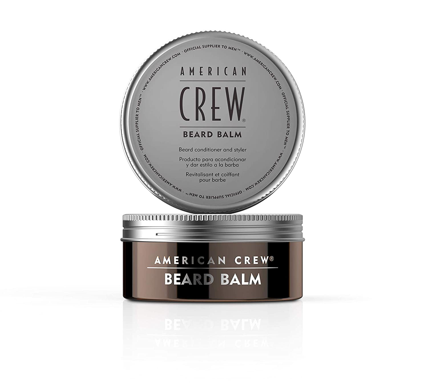 AMERICAN CREW Beard Balm with Sweet Almond Oil and Shea Butter - Conditioner & Styler