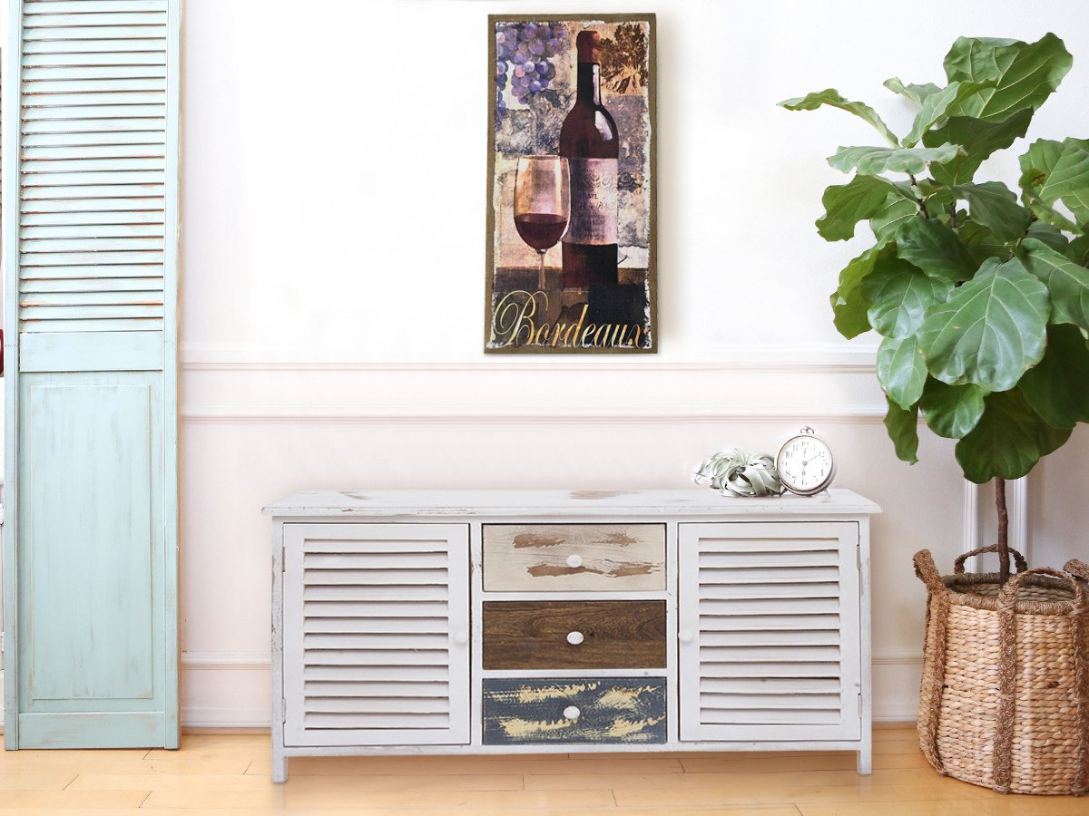 Rebecca Mobili Asiento Almacenamiento Banco Contenedor 3 Cajones 2 Puertas Madera Trastero Pasillo Cocina - 45 x 90 x 34 cm (A x AN x FON) - Art. RE4218: ...