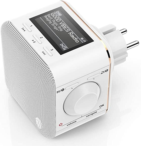 Hama Steckdosenradio Dab Dab Digitalradio Klein Plug In Radio Mit Dab Dab Plus Fm Bluetooth Aux Radio Wecker Beleuchtetes Display Geeignet Für Die Steckdose Steckdosen Radio Weiß Baumarkt