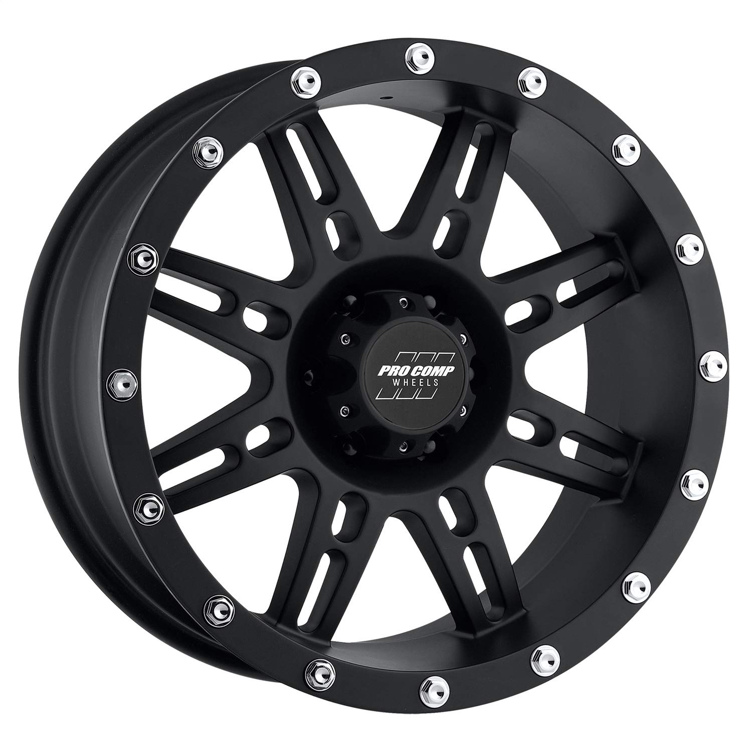 15x8//6x5.5-19mm Pro Comp Alloys Series 69 Wheel with Flat Black Finish