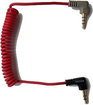 ienza - Cable Adaptador de 3,5 mm TRS a 3,5 mm TRRS en Espiral para