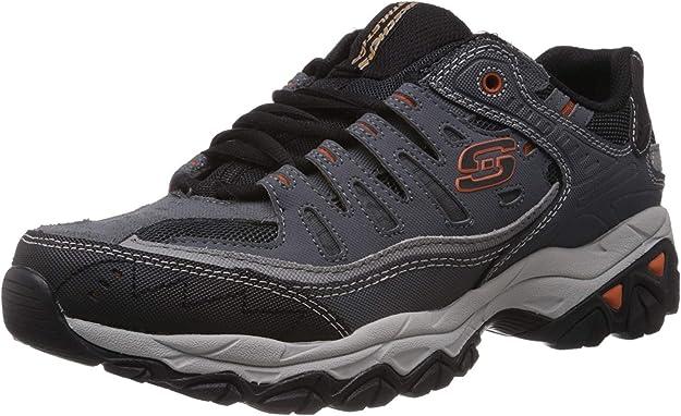 2. Skechers Afterburn Memory-Foam Lace-Up Sneaker