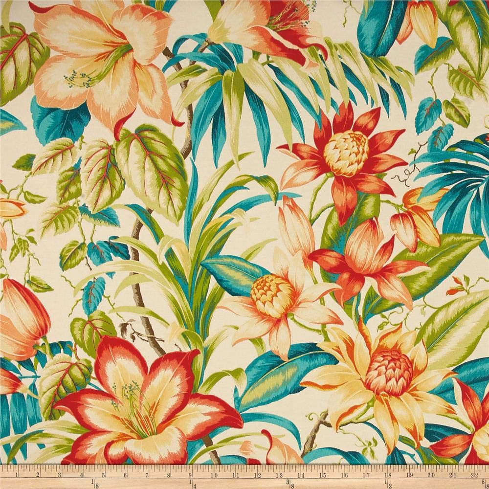 Tommy Bahama 0510943 Indoor/Outdoor Botanical Glow Tiger Lily Fabric by the Yard