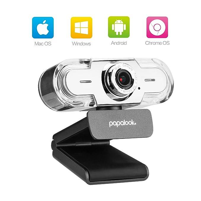 Webcam 1080P, Papalook PA452 PRO Cámara Web de Alta Definición con ...