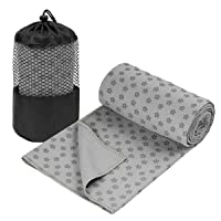 Deals on GalSports Non Slip Hot Yoga Mat Towel 24-in x 72-in