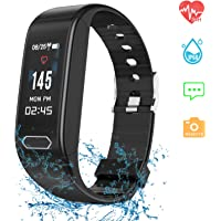 ESOLOM Fitness Tracker Waterproof with Blood Pressure Monitor, Activity Tracker Smart Watch with Heart Rate Monitor, Sleep Monitor Activity Health Tracker Smart Band Bracelet for Android & iPhone