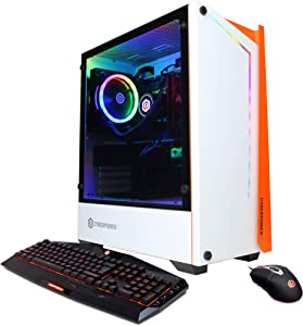CyberpowerPC Gamer Xtreme Liquid Cool Gaming PC, Intel Core i7-10700K 3.8GHz, 16GB DDR4, NVIDIA GeForce GTX 1660 Super 6GB, 500GB PCI-E NVMe SSD, 2TB HDD, WiFi Ready & Win 10 Home (GLC6400CPGV2 White)