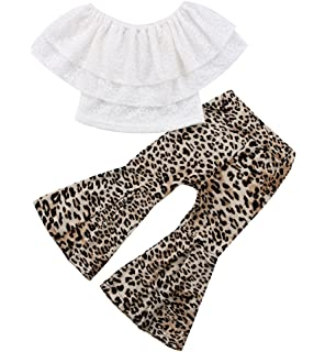 e18a24860e79 Amazon.com  Fartido Romper Baby Girl Boy Leopard  Jumpsuit Playsuit ...