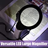 Hands Free Lighted Reading Magnifier, Dicfeos Extra