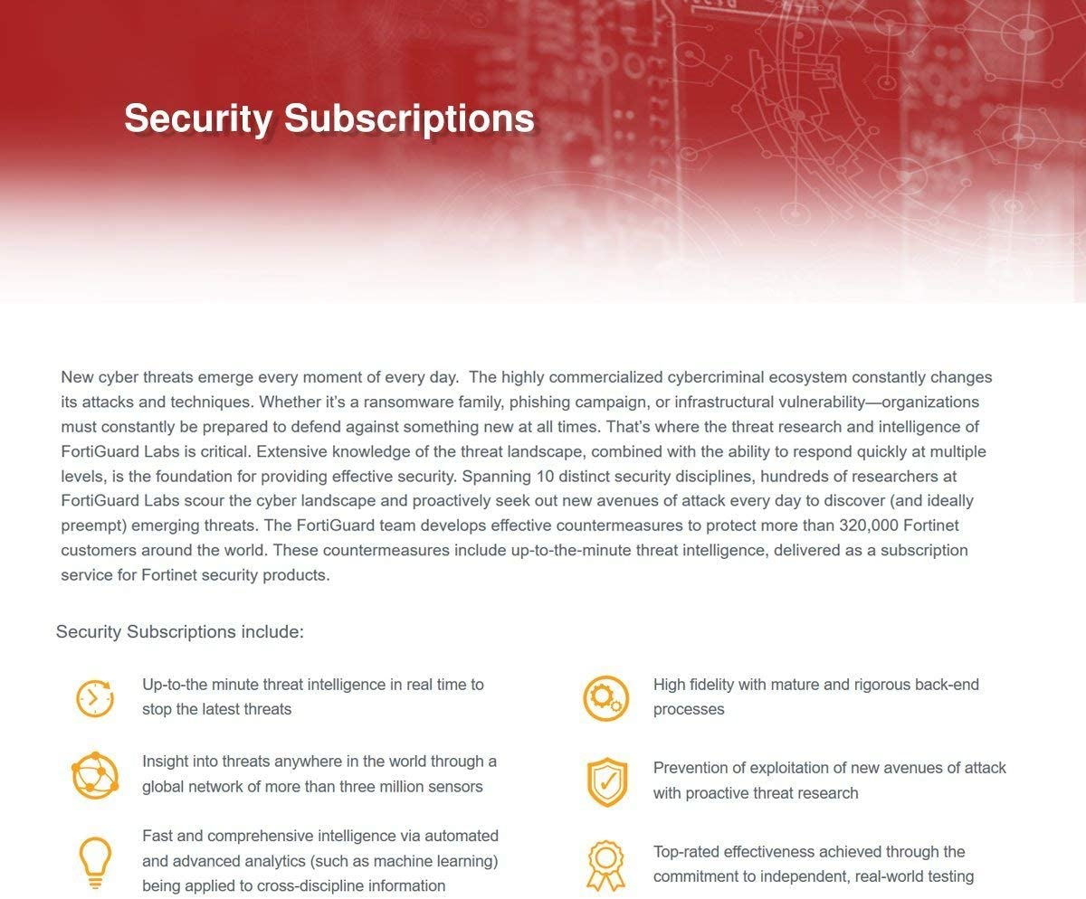 Fortinet FortiGate-30E-3G4G-NAM License 1 YR FortiGuard Security Rating FC-10-G30EN-175-02-12