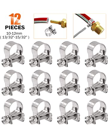 9//16 W Ideal Tridon 5688051 Stainless Steel Quick Release Clamp with Steel Screw 2 to 6 Diameter Pack of 10