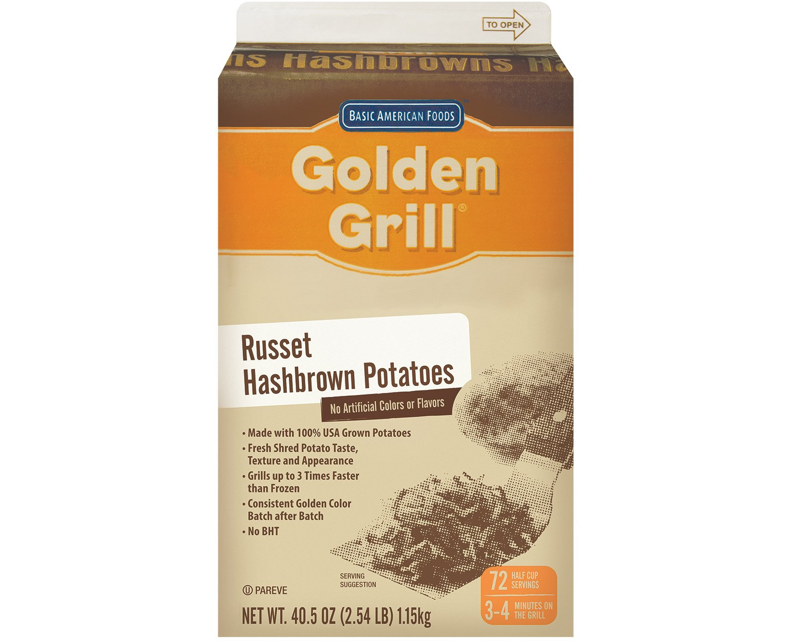 Golden Grill, Premium Hashbrown Potatoes, 432 servings, 40.5 oz. (6 Count) by Golden Grill
