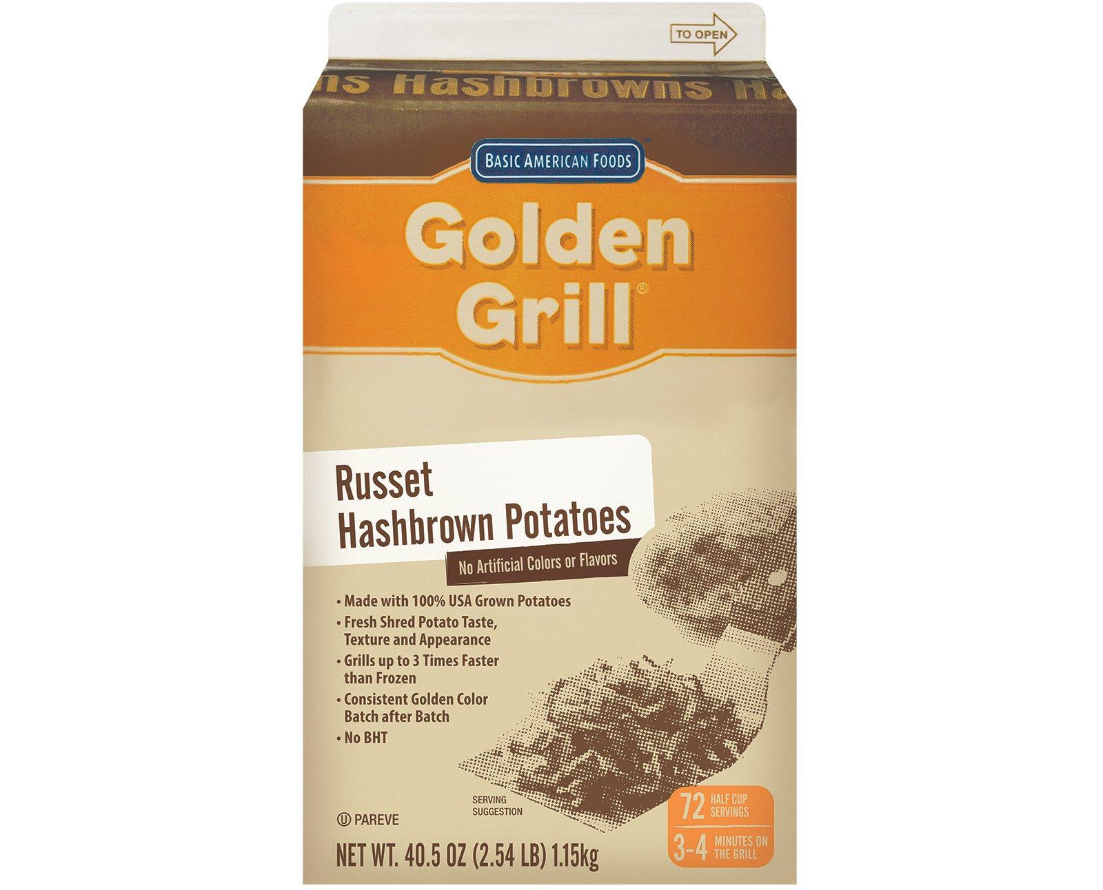 Golden Grill, Premium Hashbrown Potatoes, 432 servings, 40.5 oz. (6 Count)
