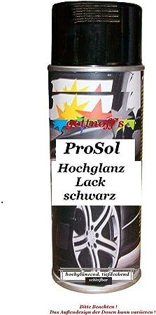 1 Lackspray Schwarz Glänzend 400 Ml Je Spraydose Auto