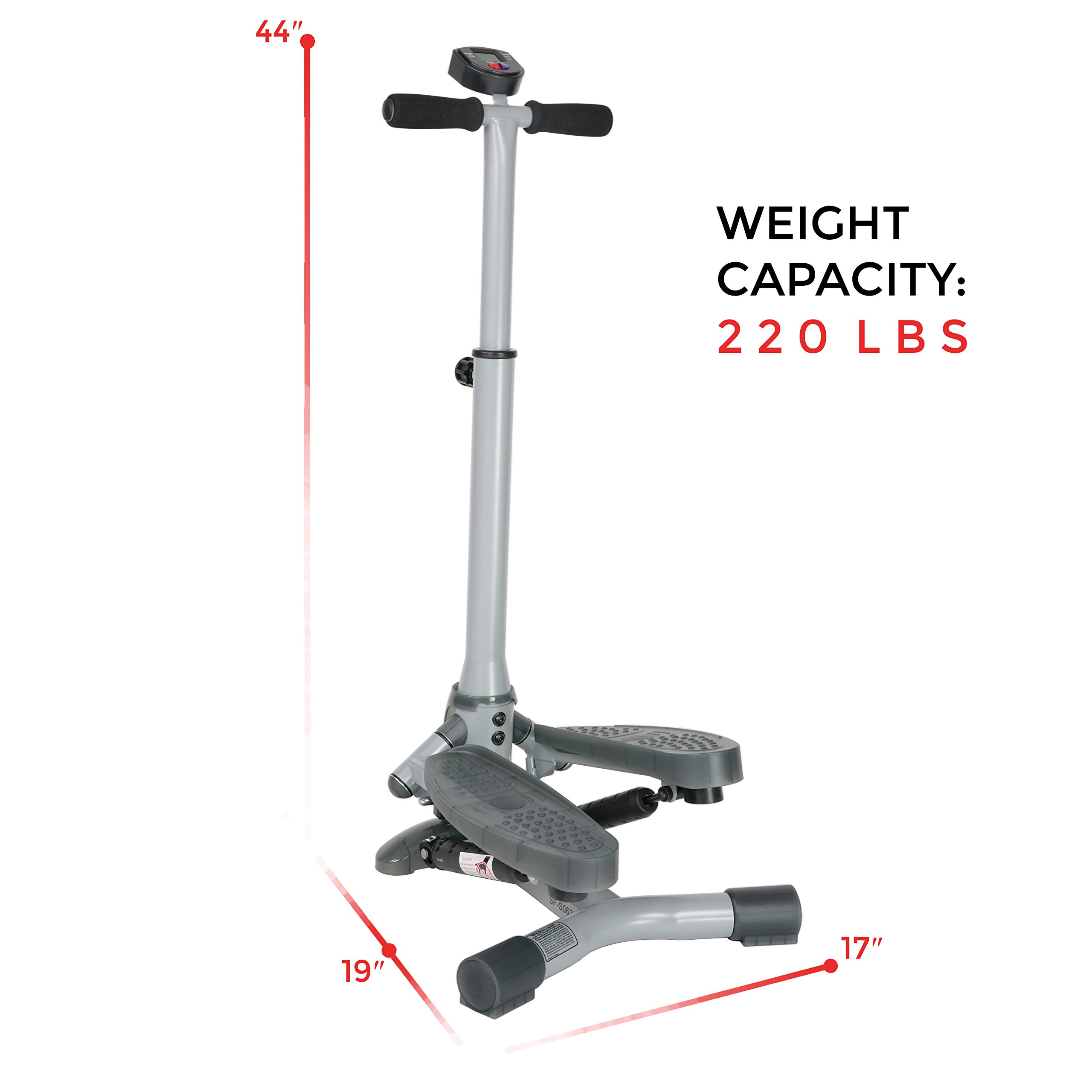 Sunny Health & Fitness SF-S0637 Twist-In Stepper Step Machine w/ Handlebar and LCD Monitor by Sunny Health & Fitness (Image #9)