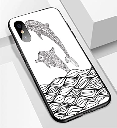 Amazon.com: Carcasa ultrafina para iPhone X y XS, diseño de ...