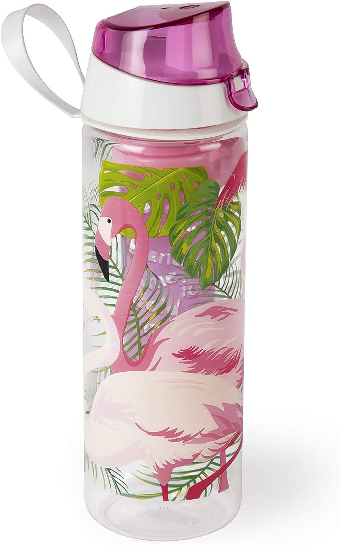 Excelsa Tropical - Botella con infusor, Rosa, 750 ml