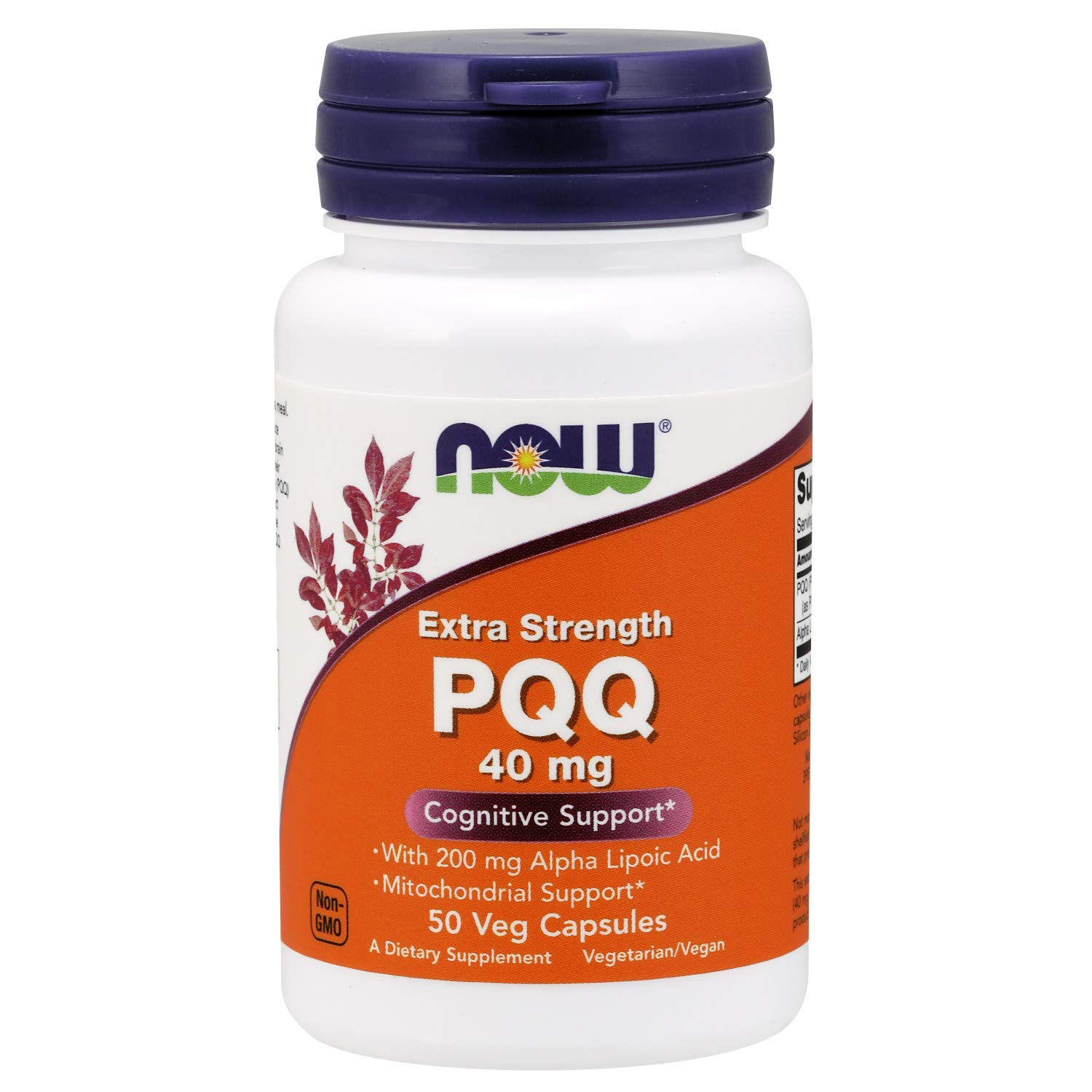 Now Supplements, PQQ 40 mg with 200 mg Alpha Lipoic Acid, Extra Strength, 50 Veg Capsules by NOW Foods