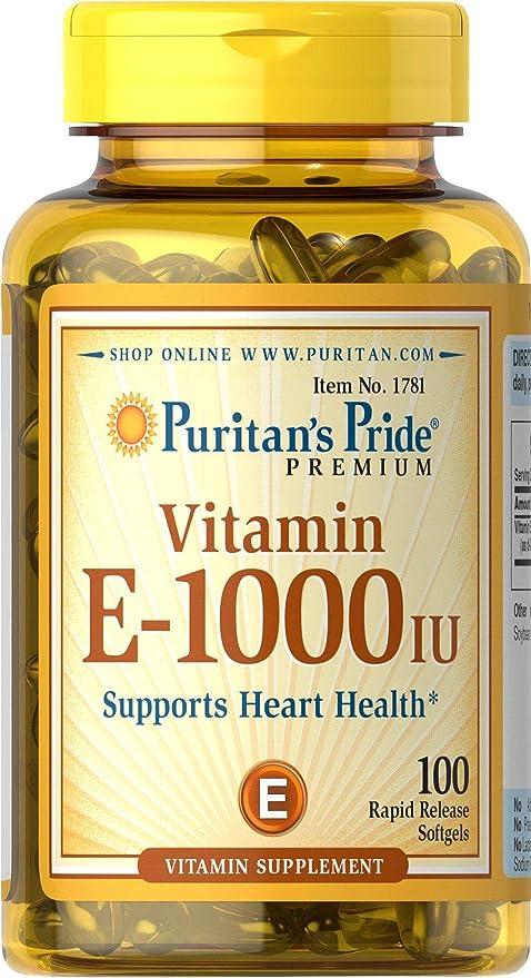 Vitamina E 1000 IU 100 perlas. E1000. (Pack 2u.)