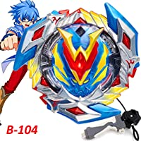 Urcara Bey Burst Gyro Battling Top B-104 Beyblade Burst Winning Valkyrie.12VI Starter Spinning Top with Launcher + Grip Set Top Battle Set Toys for Kids(Beyblade Burst B-40 Launcher Grip Black)