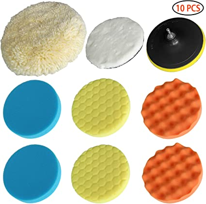 10Pcs Automobile Sponge Polishing Foam Car Waxing Buffing Pad Vehicle Clean Tool