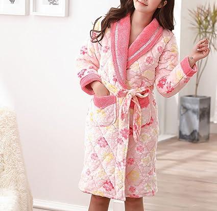 POKWAI Algodón De Algodón De Mujer De Largo Alargamiento Pijama Damas De Otoño Y Camisones De