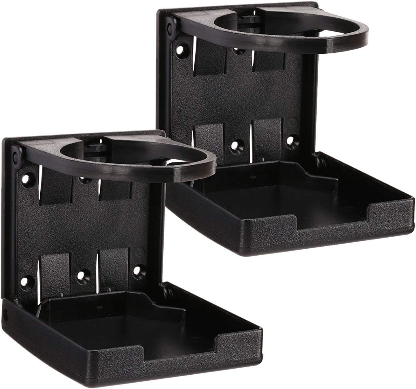 Nicedier Car Mounted Cup Holders Auto Car Vehicle Cup Can Holders Container Hook for Truck Interior 2pcs Black+Grey