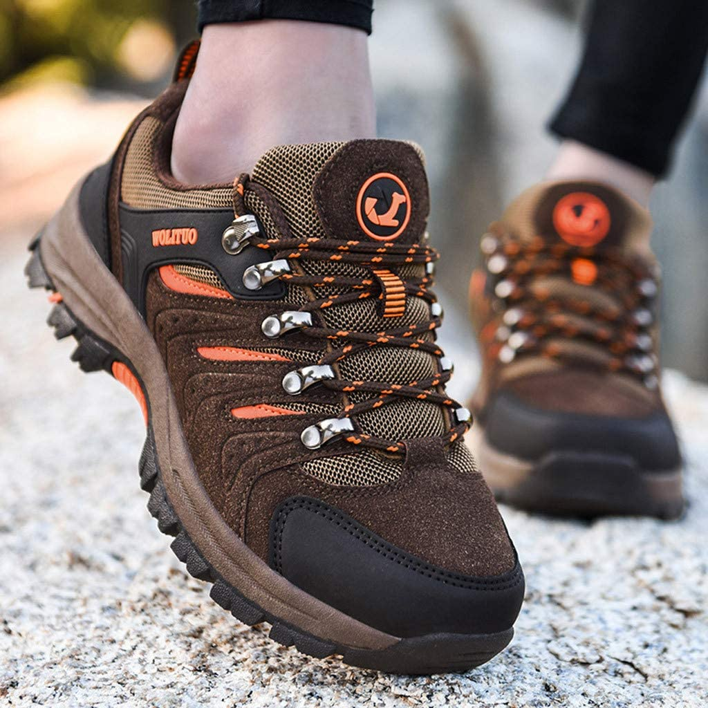 Jentouzz Comfortable Hiking Shoes Breathable Non-Slip Outdoor Trekking Shoes Casual Low Top Sneakers for Men Women