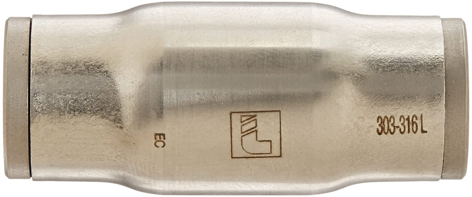 1//2 Tube OD 1//2 Tube OD Parker Legris 38066200 Inline Union Legris 3806 62 00 Stainless Steel 316 Push-to-Connect Fitting